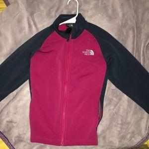 Dark grey and pink Northface sweater .